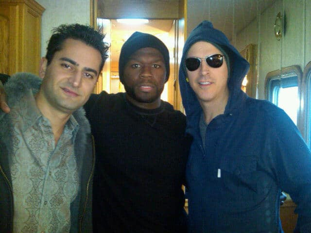 Antonio Esfandiari, 50 cent and Phil Laak